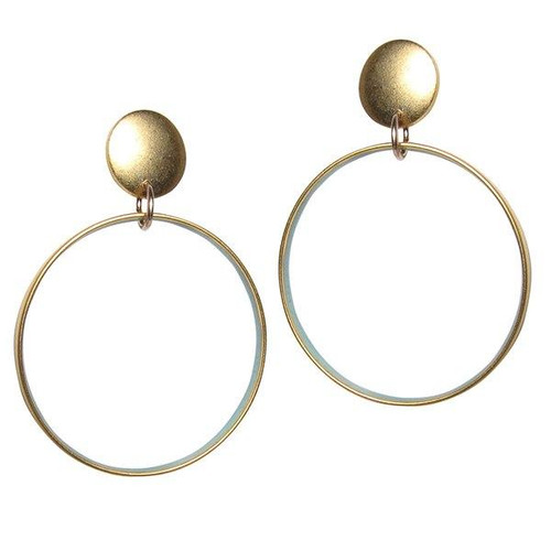 OT5 Blue Circle Earrings