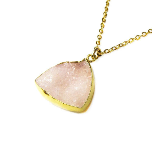OT14 Pink Druzy Necklace