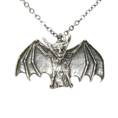 OT21 Sterling Silver Small Bat Necklace