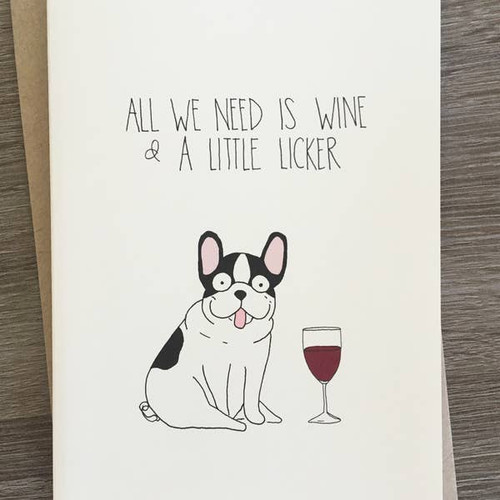 Wine and Licker Card