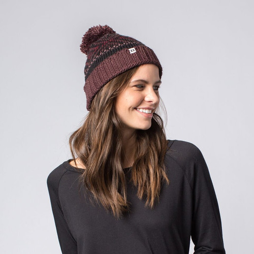 Becks Cuffed Beanie with Pom