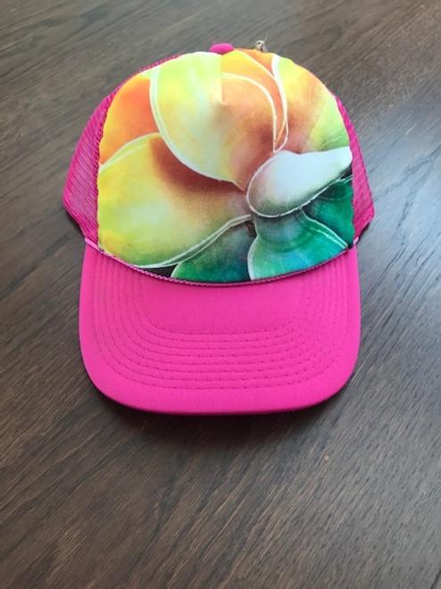 Desert Plumeria Trucker Hat