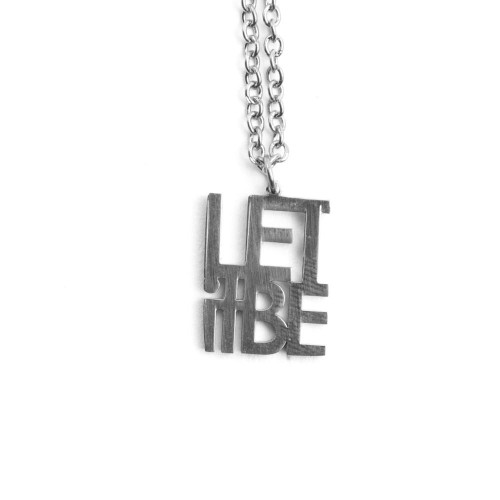 Let it Be- Necklace Silver