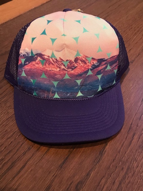 Alpenglow Mountains Trucker Hat