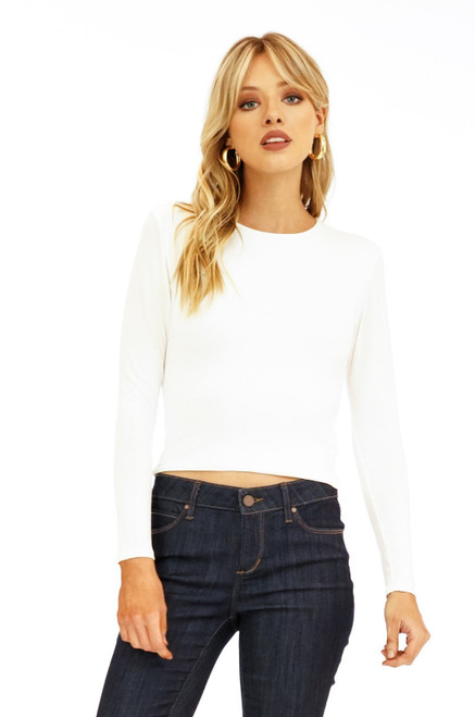 L/S Sleeve Crop Top Basic
