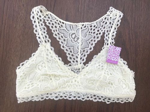 Lace Racer Back with large holes