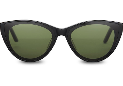 Shiny Black with Green Lens