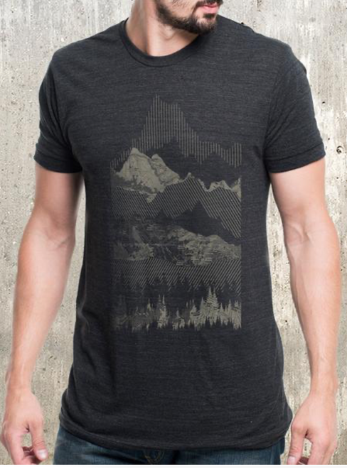 Geometric Mountain Range Tee