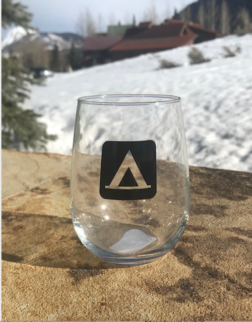 Campsite Stemless Wine Glass