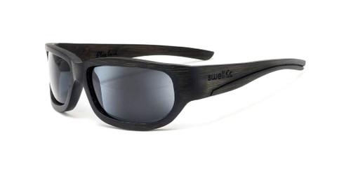 Sportsman Black/Smoke Bamboo Sunglasses