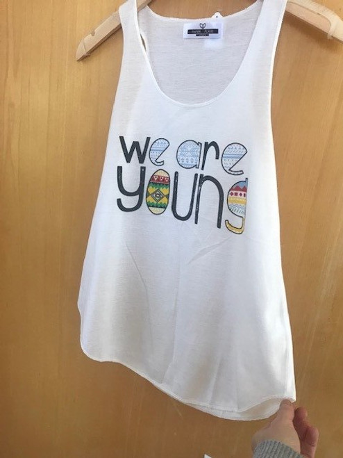 We R Young Tank - One Size White