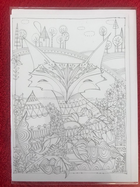 Foxy Coloring card