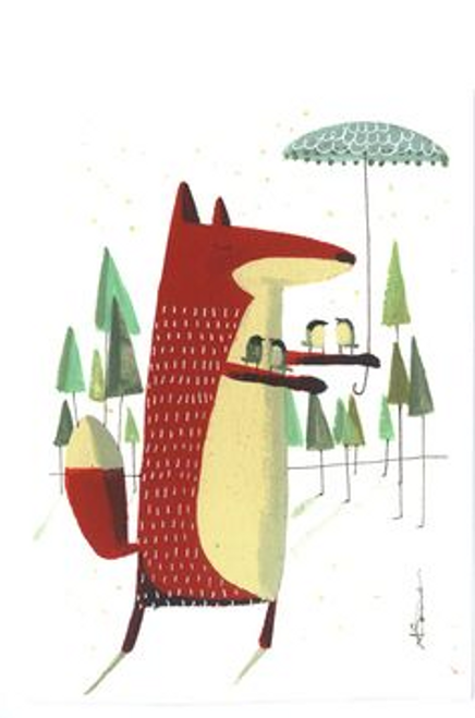 Fox and Umbrella