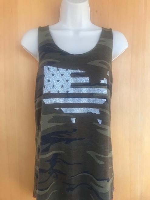 Camo US Flag Tank - XXL  only one