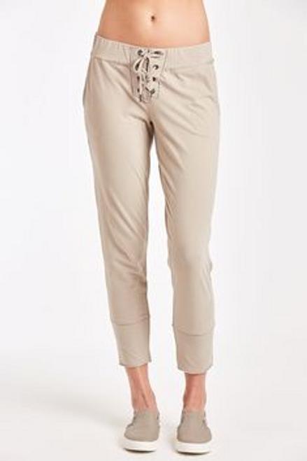 Caiden Lace up Pants -  Mocha