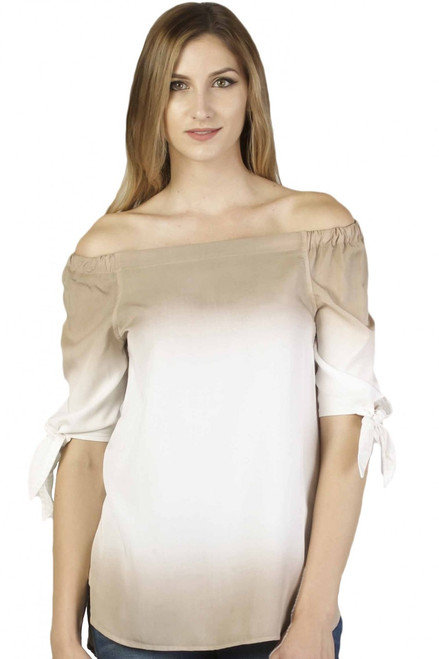 Aylin Off Shoulder Dipdye Sleeve