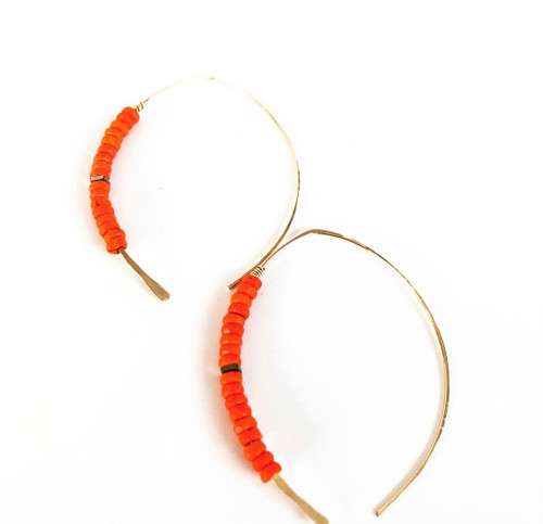 LL24 Belize Earrings Gold and Orange