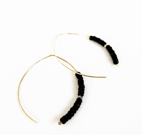 LL23 Belize Earrings Black and Gold