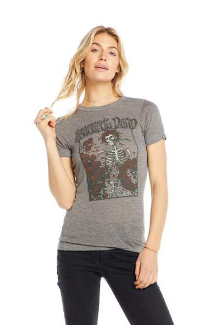 Grateful Dead-Skeleton Roses Triblend