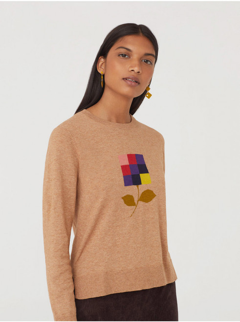 Pixel Flower Sweater