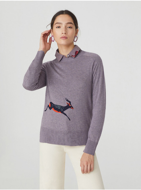 Sweater w/ Gazelle