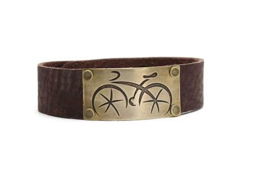 DL 7 Ride Leather Cuff - Women's Antique Brass
