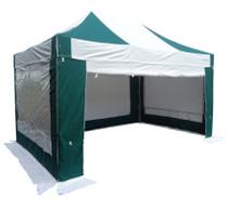 S50 3x4.5 commercial aluminium green & white heavy duty pop up gazebo