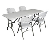 6ft Folding Table & Folding Chairs set