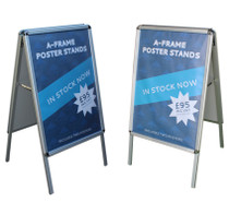 A frame poster stands