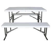 4ft Folding Table & Bench Set