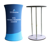 Oval Promotional Display Counter
