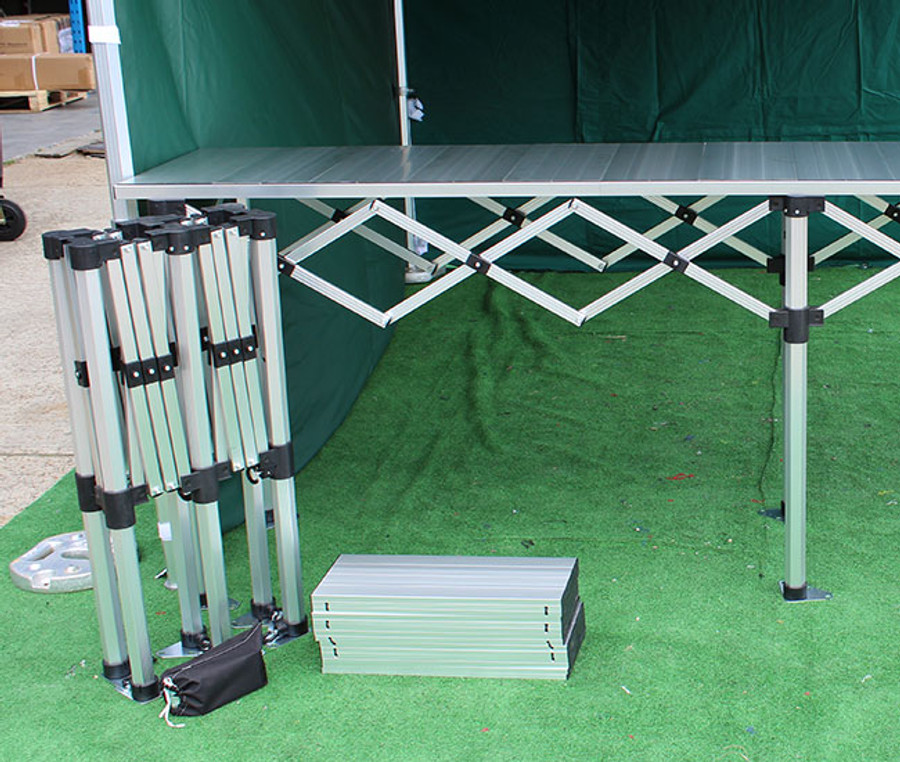 3m Folding Table Trade Counter with aluminium tops