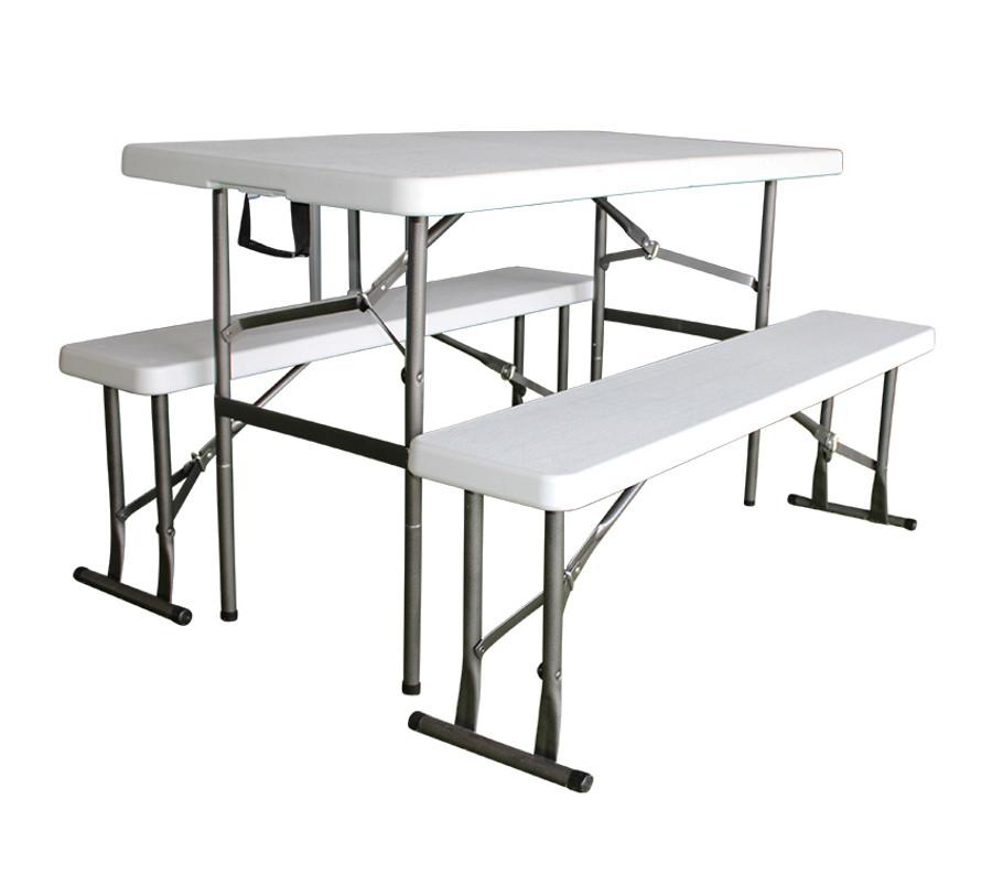 4ft Folding Table & Bench Set