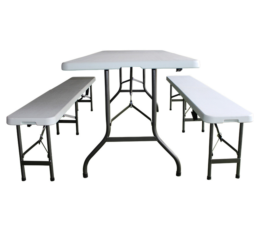 6ft Folding Table & Bench Set