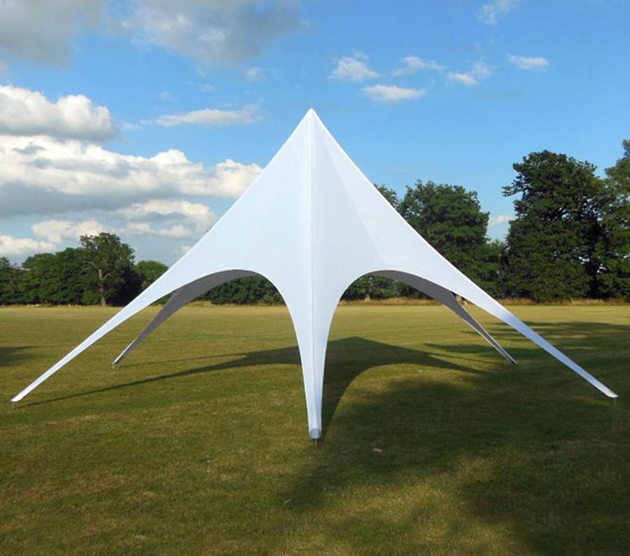 8m Star Tent - White
