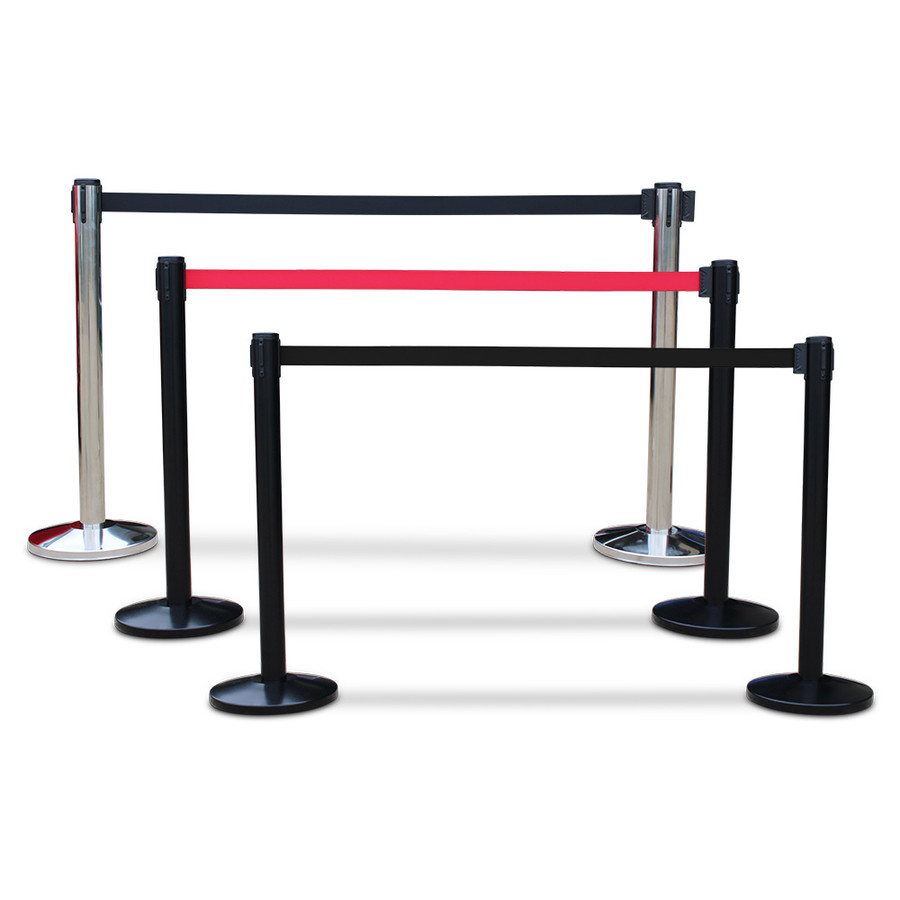 Retractable barriers set of 3