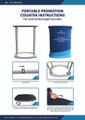 Rectangle promotional Display counter instructions