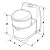 Thetford  C223-CS RV Cassette Toilet - Electric Flush