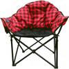 Kuma Outdoors KO846-RB Heated Cushioned Camping Chair - Red/Black