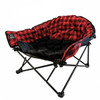 Kuma Outdoors 844-RPB Camping Cushioned Dog Bed - Red/Black