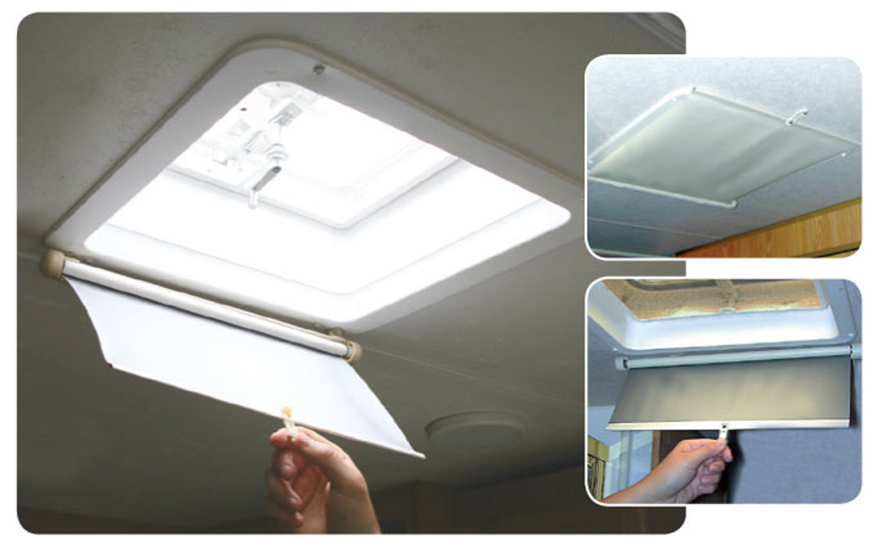 Camco 42913 Lights Out Retractable Rv Roof Vent Shade