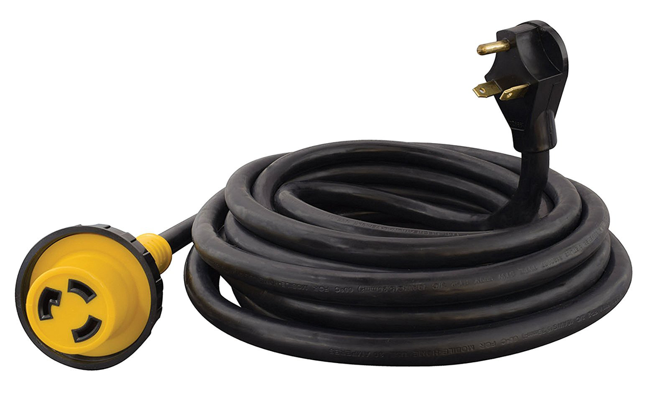 Mighty Cord A10 3025edbk Outdoor Rv Power Extension Cord 30 Amp 25 Ft
