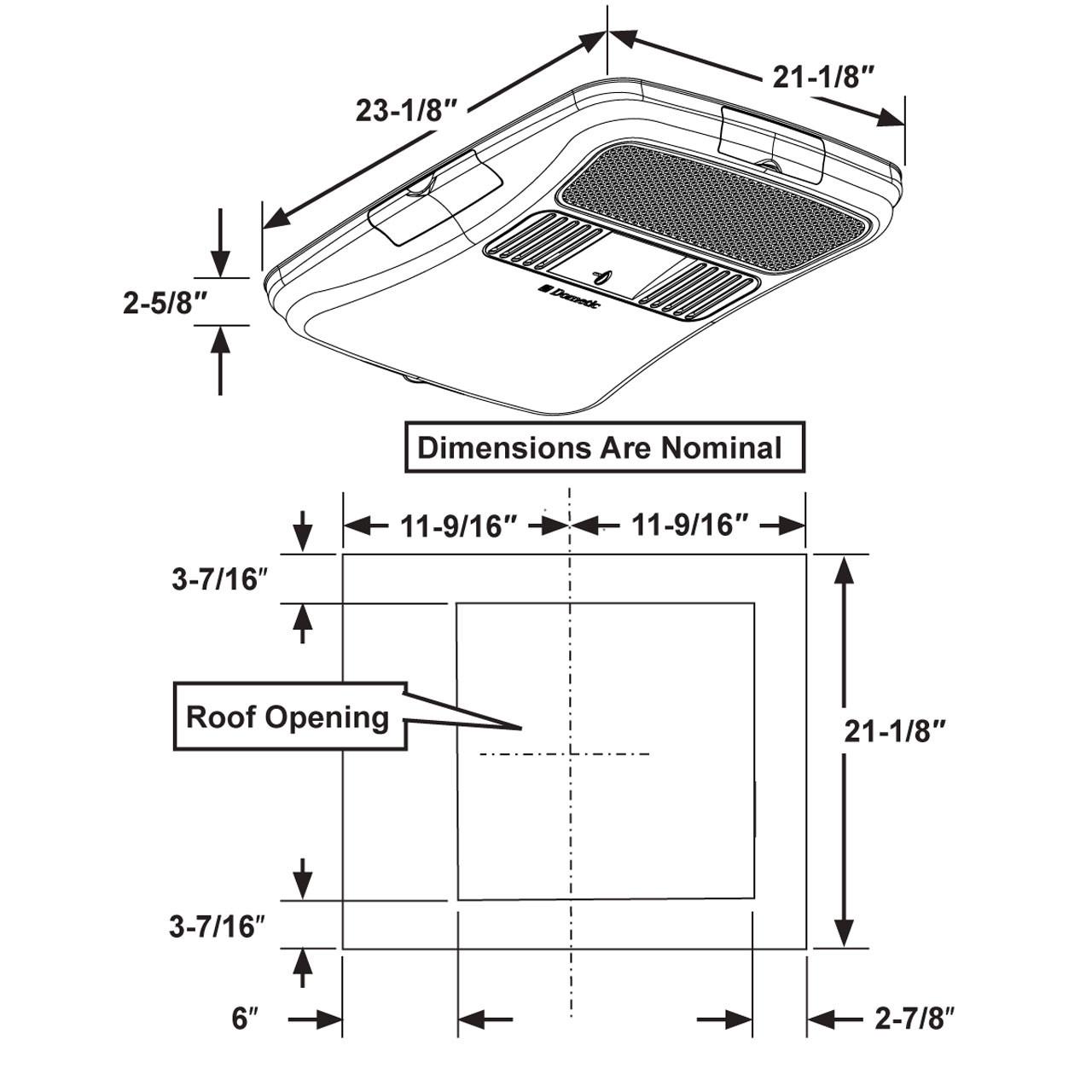 Dometic Duo Therm 3314850 000 Rv Air Conditioner Air Distribution Box Adb