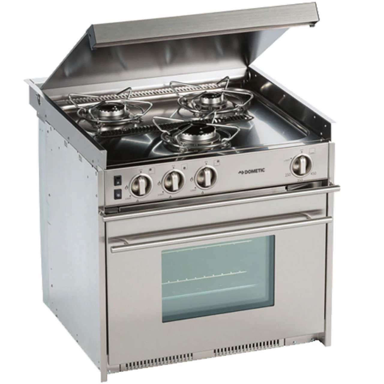 Rv Stove Oven >> Dometic Cu 434 Propane 3 Burner Stainless Steel Stove Oven