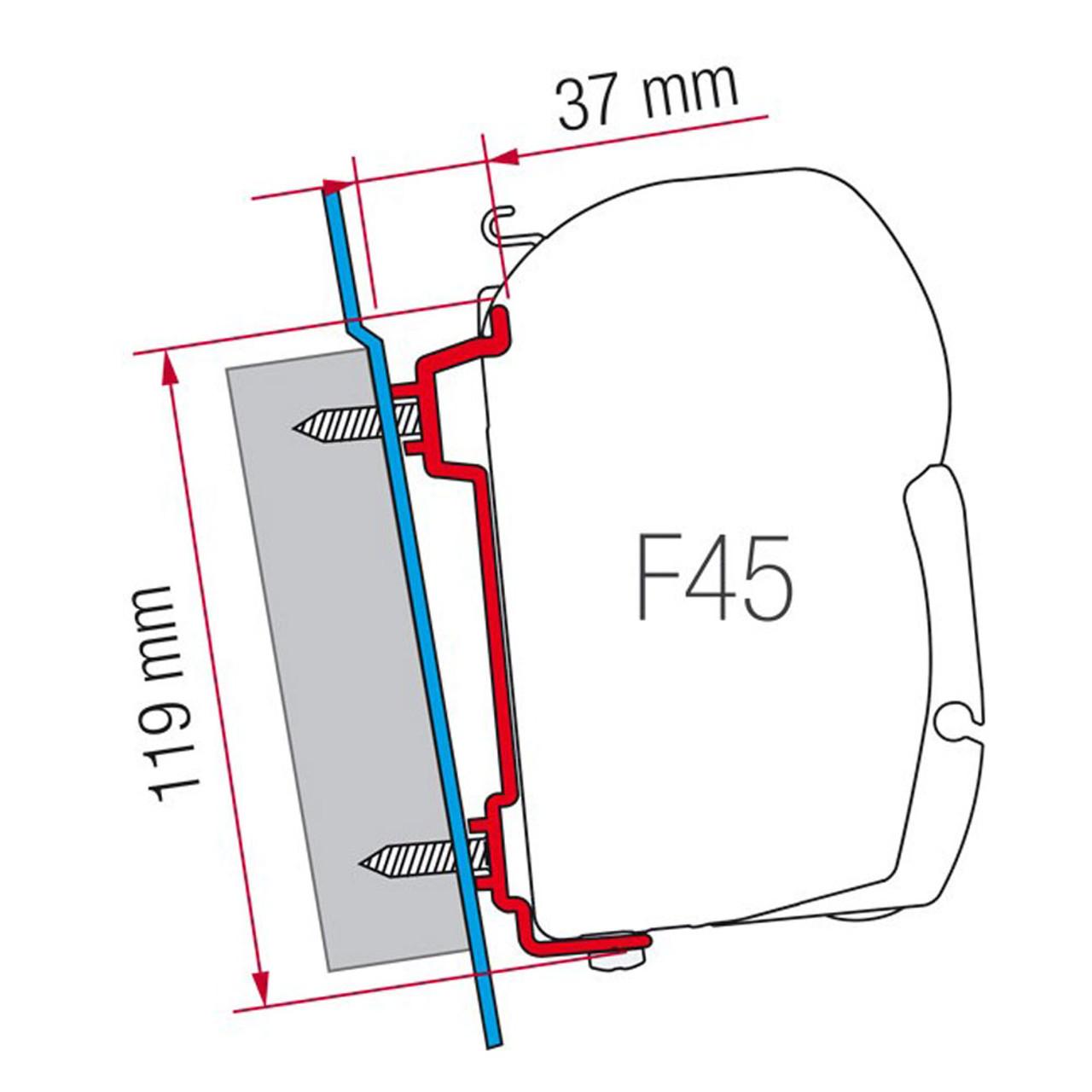 FIAMMA MOUNT Bracket FOR RAFTER F35 OR CARAVANSTORE