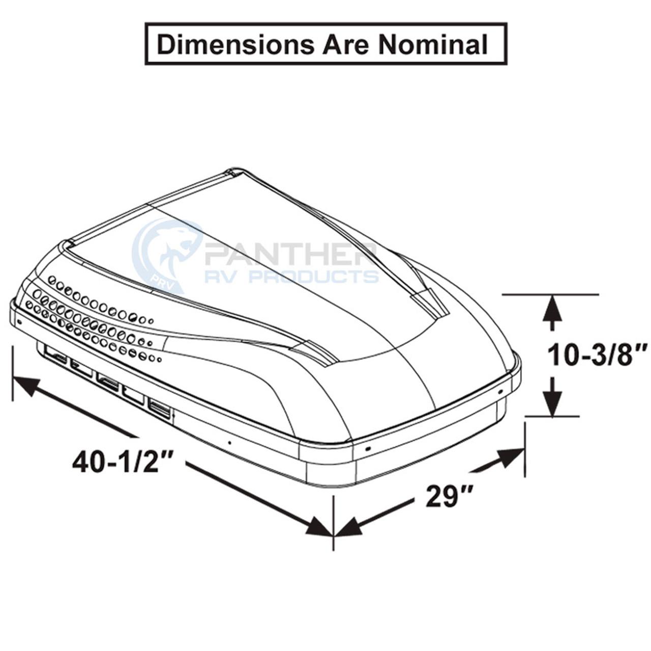 Dometic™ (Duo-Therm) 640310CXX1C0 Penguin II RV Roof Top Air Conditioner  (ADB) White
