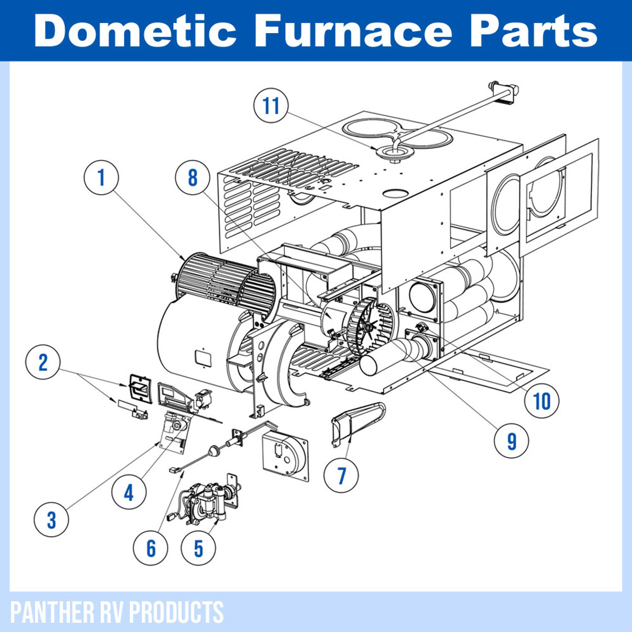 Dometic™ (Atwood) DFMD35 RV Mojave Propane Heater / Furnace - 35K Parts  BreakdownPanther RV Products