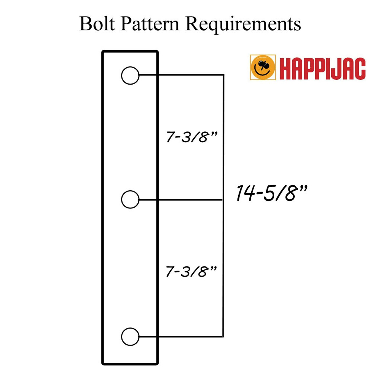 happijac 540000 swing out ( dually ) extender brackets 182496happijac wiring  diagram #17