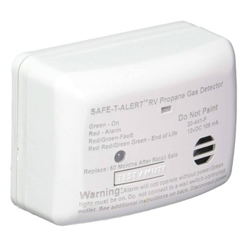 Safe-T-Alert 20-441-P-WT RV Mini Propane Leak Detector / Alarm ( LP Gas Sniffer )