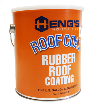 Heng's 46128-4 RV Rubber Roof Protective Coating  - One Gallon